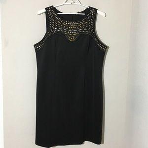 Eloquii Studded Bodycon Dress Black Sz 22